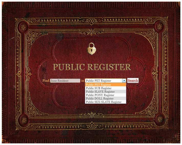 Sex slave registry